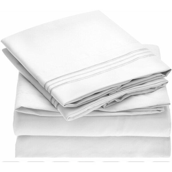 Fine Linens 1800 Thread Count 100% Brushed Microfiber Sheet Set by Mellanni